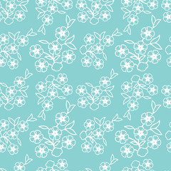 Vintage Vector hand-drawn seamless pattern with ethnic east floral ornament