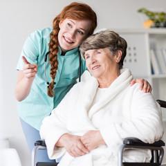 Senior resident of care home
