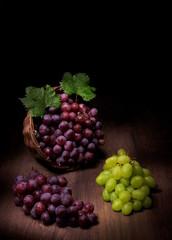 Uva bianca e rossa