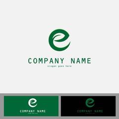 letter E ecology logo