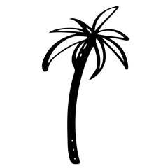 Coconut palm tree logo