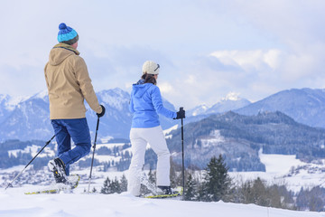Schneeschuh-Tour in den Bergen