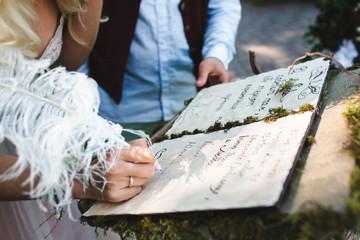 elven wedding ceremony in the green garden