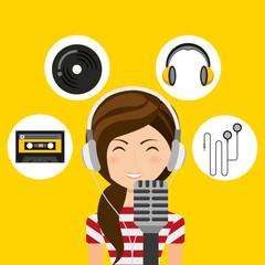 music entertainment person avatar vector illustration design