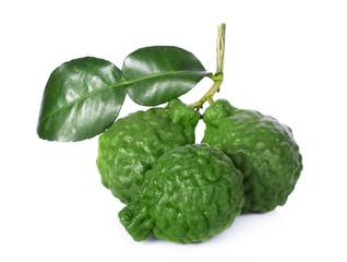 Bergamot fruit isolate on white background