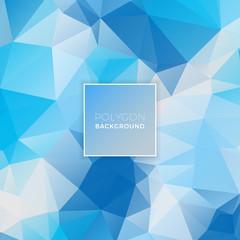 Ice Blue Polygon Background