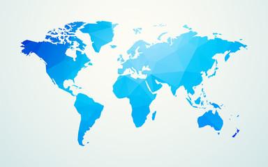 world map blue geometric shape texture