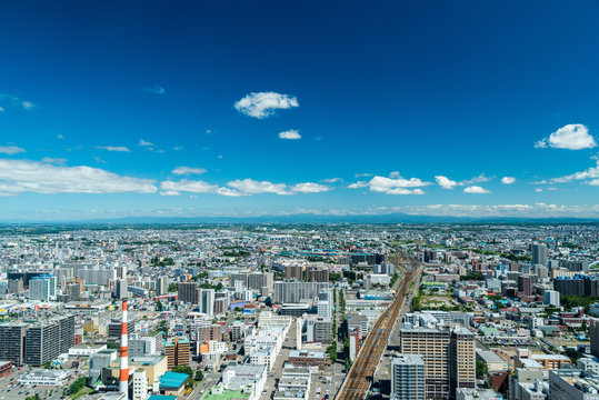 札幌JRタワー展望室から見る東方面