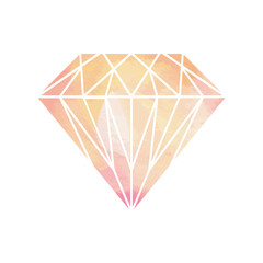 Watercolor Diamond