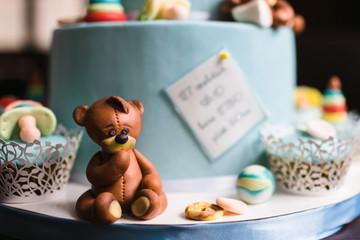 perfect original cake prepared for a newborn