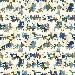 Digital / Modern Camouflage Seamless Pattern. High Quality, Perfectly tile-able