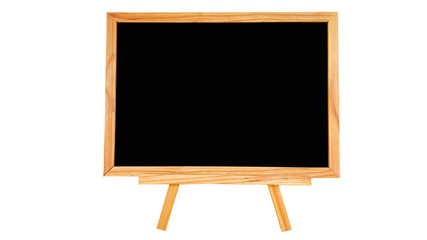 Natural pine wood black board on white background isolated.