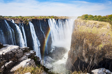 View of the Victoria Falls in Zimbabwe, Africa; Concept for travel in Africa