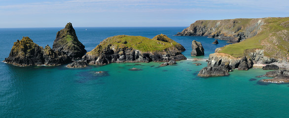 Panoramic view of Kynance cove