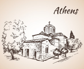 Greece Athens Holy Apostles church