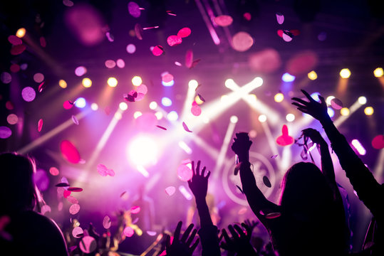 Confetti and party