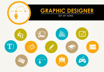 ICONS vector set - graphic designer