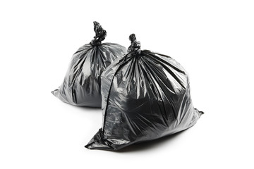 Two black garbage bags