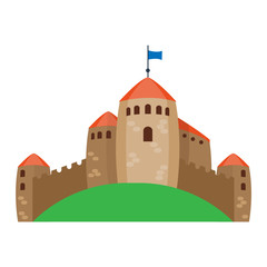 Castle cartoon vector illustration