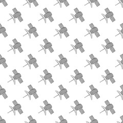 Satellite seamless pattern on white background. Navigation design vector illustration