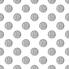 Volleyball seamless pattern on white background. Sport design vector illustration