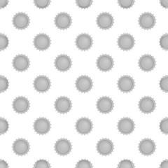Sun seamless pattern on white background. Nature design vector illustration