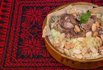 Mansaf - traditional Jordanian and Palestinian dish