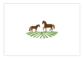 Farm and Ranch of Horse in Field