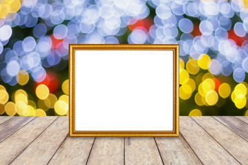 photo frame over christmas background