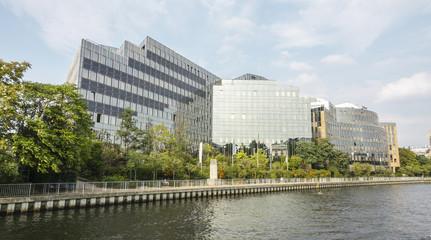 Modern building of Jonas and Redmann Group in Berlin