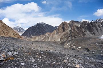 Mountain in Kichik-Alai Range in Kyrgyzstan