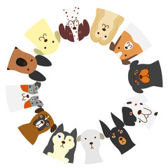 dogs circle