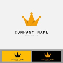 gold crown vector logo