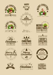 Christmas decoration design collection