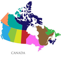 Color contour map of Canada