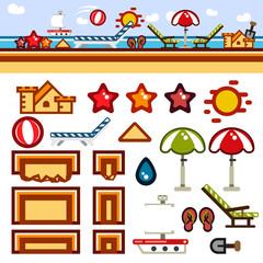 Beach flat game level kit