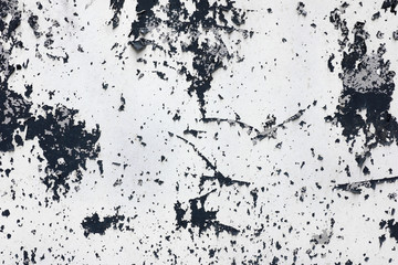 Abstract surface peeling paint on old wall