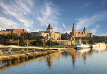Cityscape of Szczecin in Poland