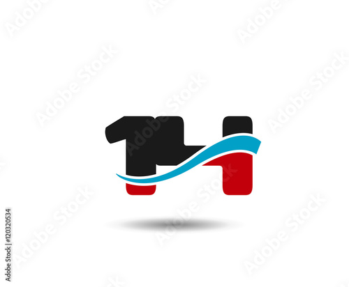 """Number 14 swoosh design template logo "" Stock image and ..."