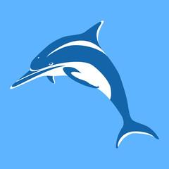 Dolphin vector illustration style Flat