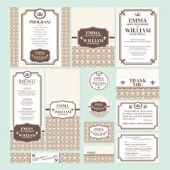 Set of wedding cards