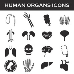 Himan organs icon set