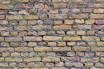 alte verfallen Ziegelsteinmauer Backstein Hintergrund