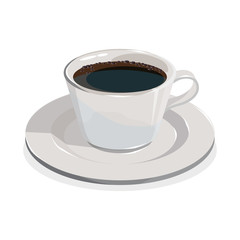 Cup of coffee.Realistic image isolated on a white background