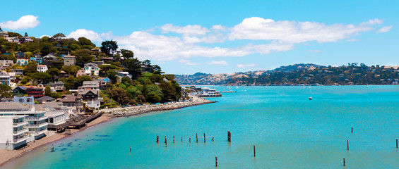 Sausalito, California panorama of waterfront