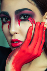 Beauty halloween makeup.