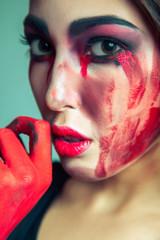 Beauty halloween makeup.