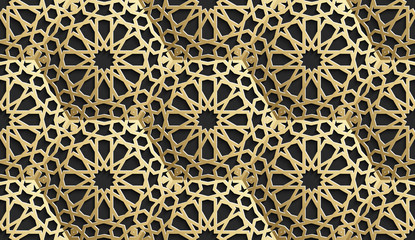 Islamic seamless pattern with stars. Vector background