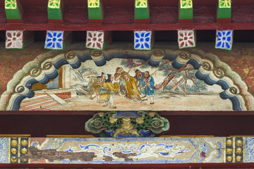 Decorative detail of the gate in the Winter Palace Museum Bogd K