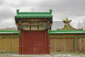 Gateway to Bogdkhaan Palace, Winter Palace of the Bogd Khan